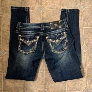 MissMe Dark Wash Skinny Jeans Size 26x31